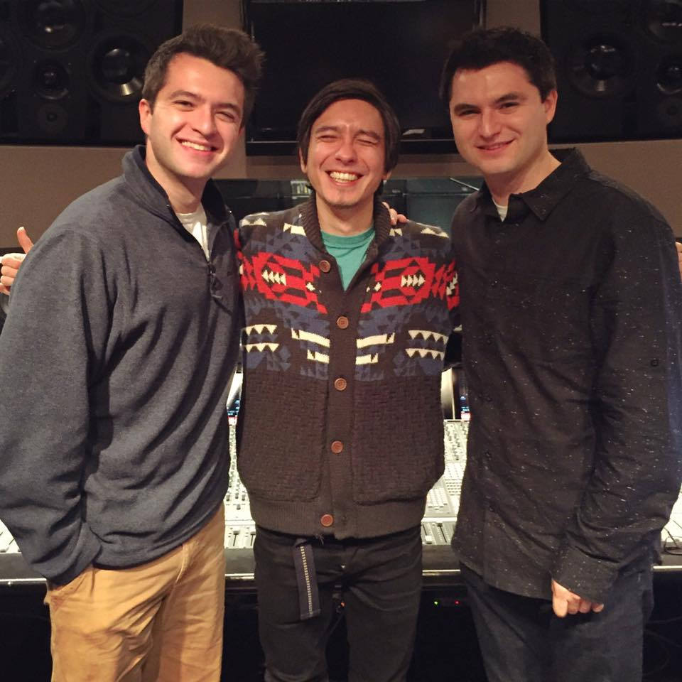 Matt with his brother Andrew, along with Grammy nominated engineer Kenta Yonesaka at Germano STudios NYC.