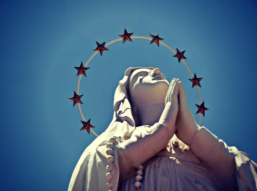 Guadalupe statue, NM