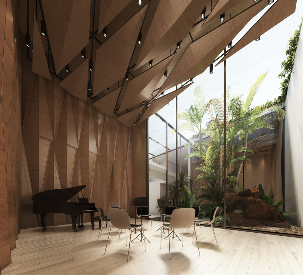 Rehearsal spaces benefit from natural views