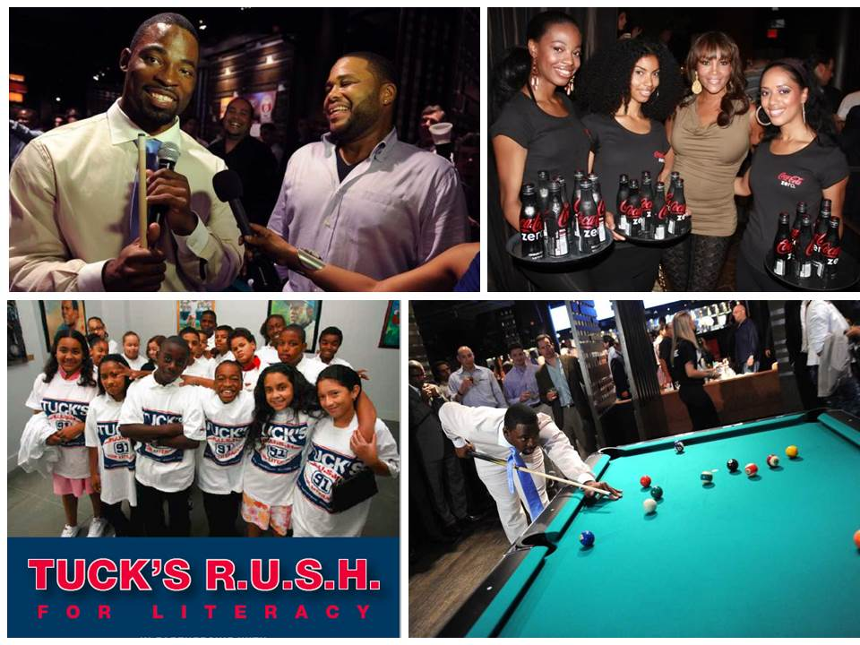 Justin Tuck's R.U.SH. for Literacy - Launched and oversaw strategy, operations, marketing + live event execution for New York Giant, Justin Tuck's charity Tuck's RUSH for Literacy. Included development and execution of annual celebrity billiards tournament.
