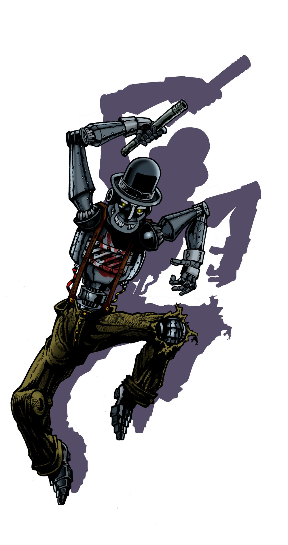 Mr. Tic-Tock. - Originally an automatia for a vaudeville act, when his creator is killed by gangsters, Mr. Tic-Tock soon becomes a machine of vengeance.