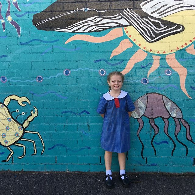 First day of big school! And my last first day of big school! No tears from either of us - just excitement and readiness and lots of smiles. Maybe I'm dead inside but really, I just know it's the right time - even if she is the tiniest kindy kid there (not 5 until end of March).