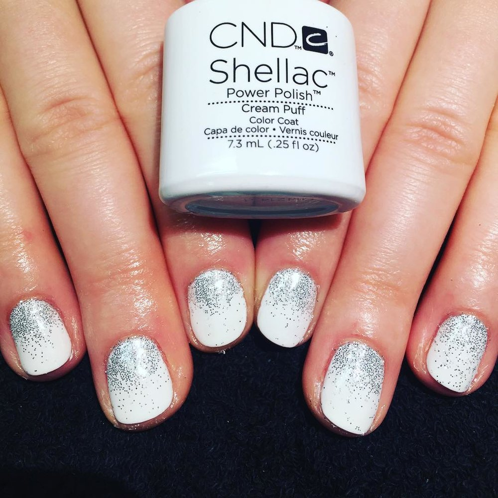 Glitter - Fine cut glitter sandwiched between your CND Shellac layers resulting in a smooth non-scratchy surface. Available in holographic, multi-glitz and ultra-fine. Book now for a super sparkly finish!£10 extra on any treatmentSelect 'Glitter' add-on when completing your booking