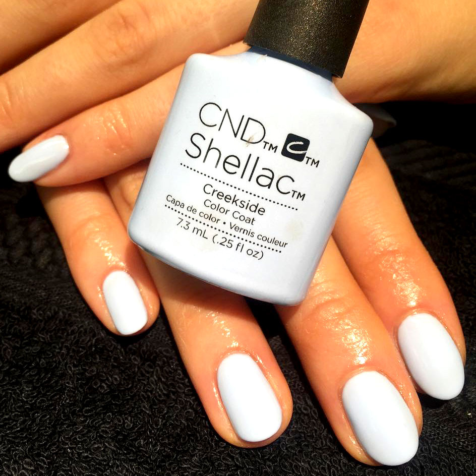 CND Shellac Manicure - The classic CND Shellac Manicure treatment. This dry manicure includes a nail file, buff and cuticle neatening with CND Shellac application in the colour of your choice from our vast selection.£32