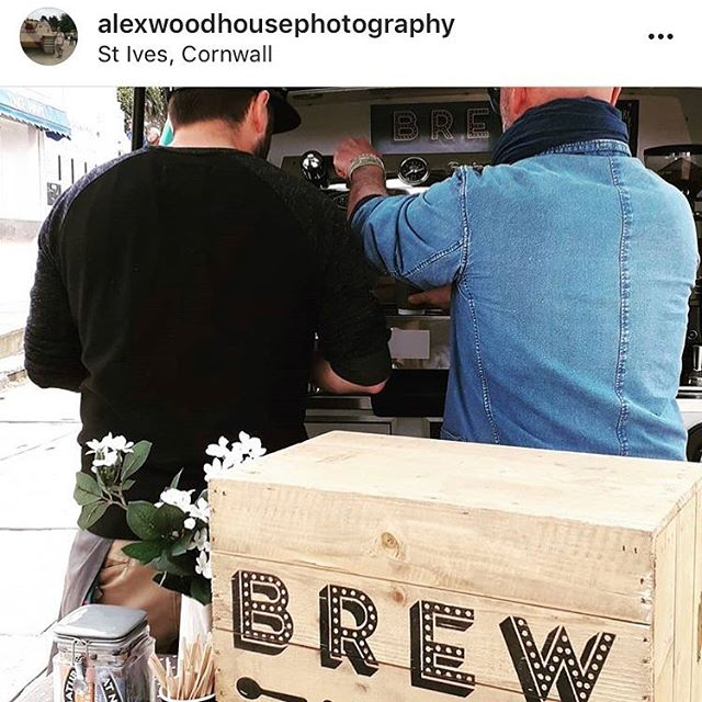 Thanks @alexwoodhousephotography for this wonderful shot from the weekend at @stivesfoodfes! We loved making everyone coffee this weekend! :)