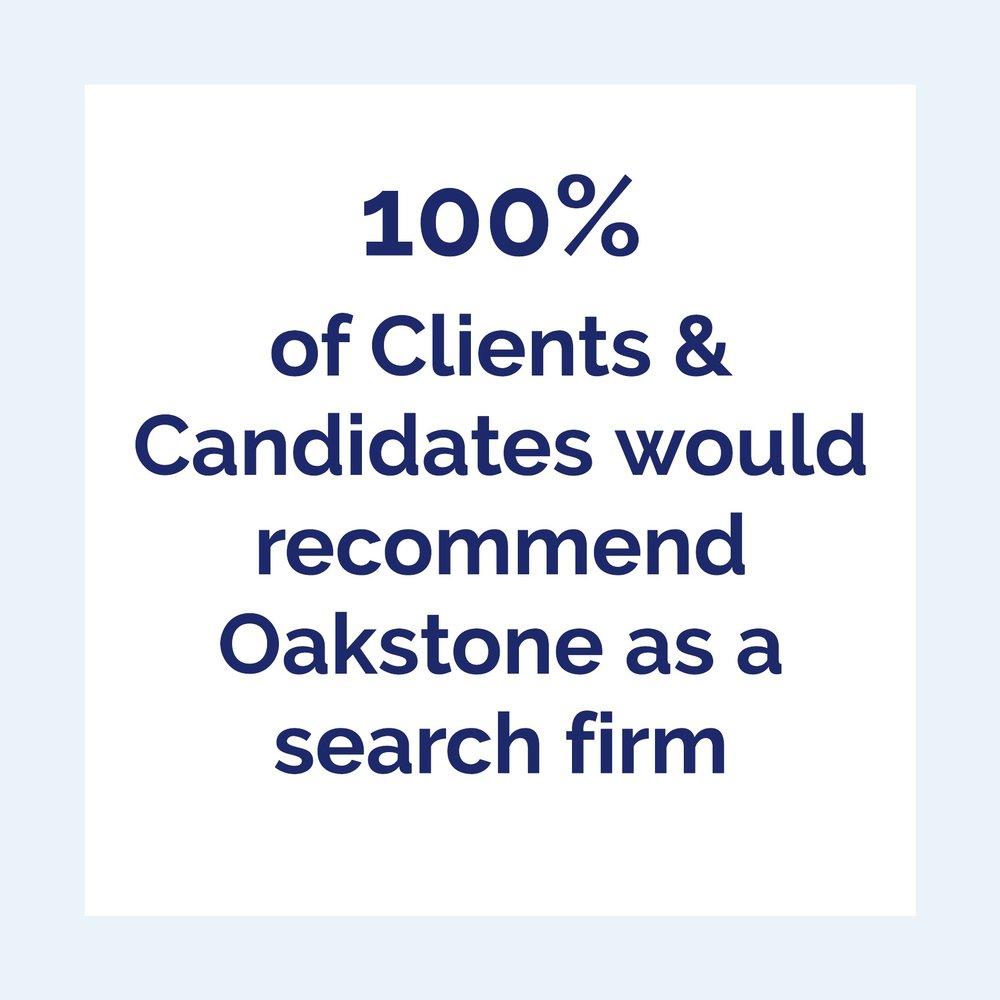 Oakstone International executive search testimonials and feedback