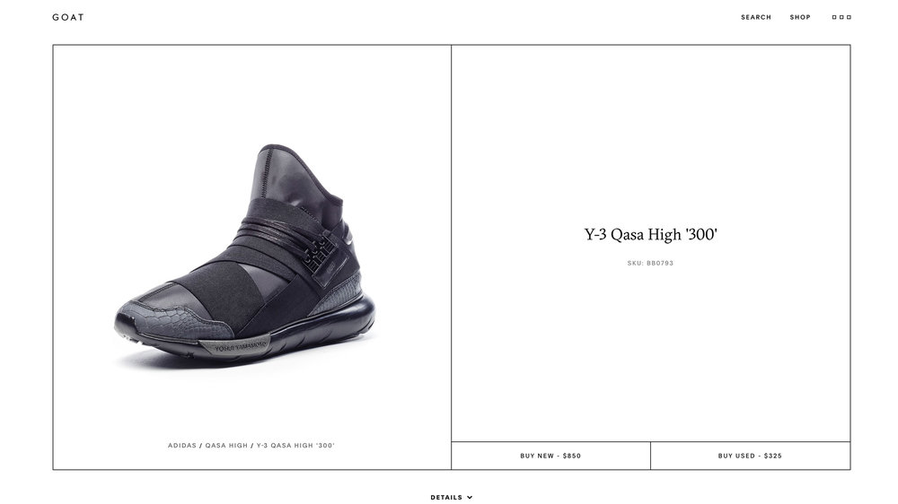 670efdc921ec6 AW16 – Y-3 Qasa 300 Limited-Edition ON THE secondary market platform  GOAt.com