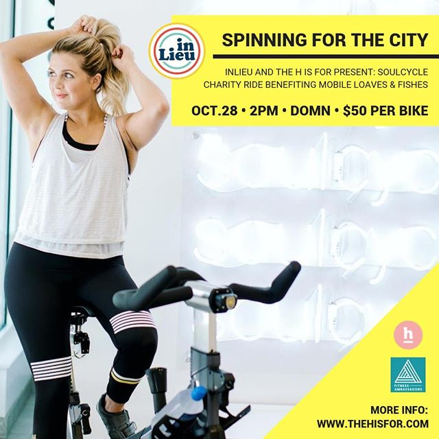 Break a sweat for an amazing cause! Book your bike for our charity ride benefiting @mobileloaves on October 28 at the Domain @soulcycle!⠀⠀⠀⠀⠀⠀⠀⠀⠀ •⠀⠀⠀⠀⠀⠀⠀⠀⠀ We are partnering with @thehisfor and @fitnessambassadors_atx for this event. Can't or don't want to ride? You can buy a raffle ticket for $20! Book your bike now or buy a raffle ticket at the link in our bio!⠀⠀⠀⠀⠀⠀⠀⠀⠀ .⠀⠀⠀⠀⠀⠀⠀⠀⠀ .⠀⠀⠀⠀⠀⠀⠀⠀⠀ . ⠀⠀⠀⠀⠀⠀⠀⠀⠀ #inlieu #inlieume #giveinlieu #soulcycle #charityride #thehisforblog #givebackclub #mobileloavesandfishes