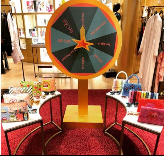 Spin n Win contest at Etoile la boutique, Mall of the Emirates.JPG