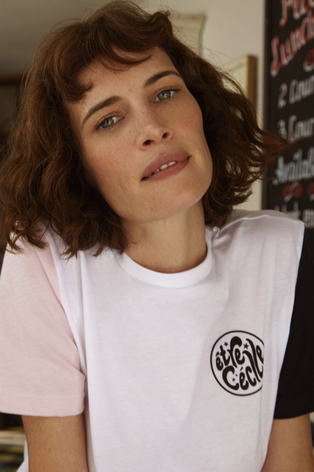 Etre Cecile was founded by Yasmin Sewell and Kyle Robinson, two London-based fashion specialists who were driven to fill a gap in the market for accessible, well priced luxury essentials.They have put their own twist on the idea with tongue-in cheek slogans, punchy prints and luxury fabrications. -