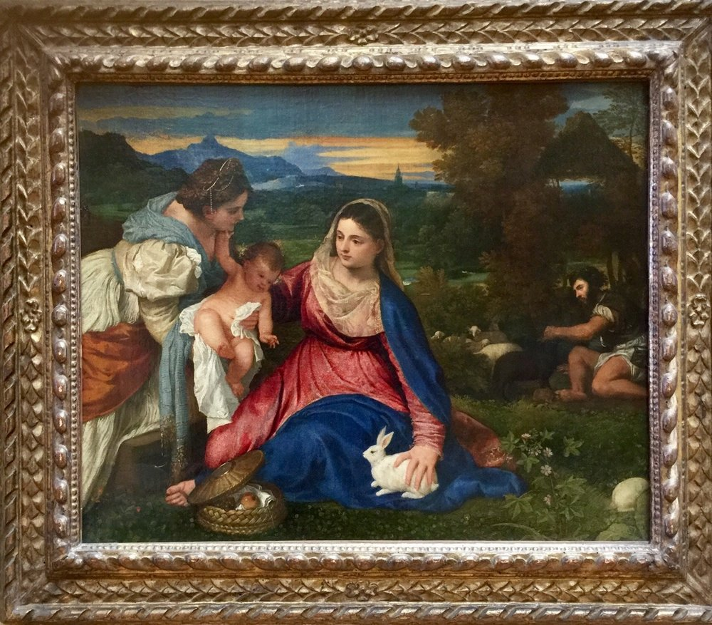 CLXXVII. Hear Ye, Hear Ye -     Photo: Tiziano Vecellio, Titian - Maddona and Child with St. Catherine  Venice, 1576 - taken at the Louvre, Paris, France on the eve of my mother's birthday, April 16, 2016.   In spite of any attention that my last post received, I want to clarify and make transparent - as any journalist does - that my mother is my best friend.  She is my ride or die.  She is my comrade and confidante.  She is the woman I aspire to be: solid limbs, limber gait, feminine, groomed - beauty defined.  I admire her and I don't.  I want to improve her.  I don't want to be her.  I want to embody her ideals more than my corporeal form already does, being born from her.  Without her, I cease to be. She made me promise that this wouldn't be the case.  I don't want to break that promise and that is why I want so badly to regain my health, so that I can commit to carrying her legacy of a strong woman.  You, my mother, are everything to me.     As the religion I was born to asserts: without woman, man is not born and kings do not exist.    Without my mother, this Kaur, this so-called princess, does not exist either.