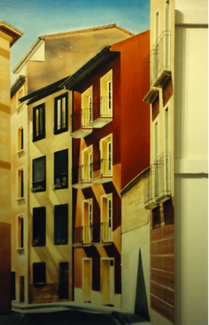 Street and Buildings of Pamplona