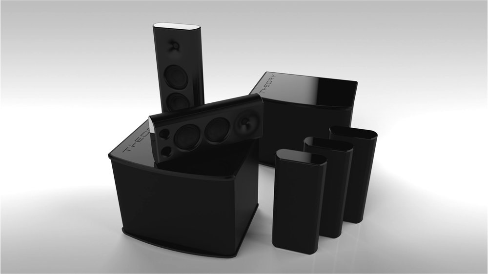 sub15 SHOWN WITH 5x sb25 ON-WALL MULTIPURPOSE LOUDSPEAKERS
