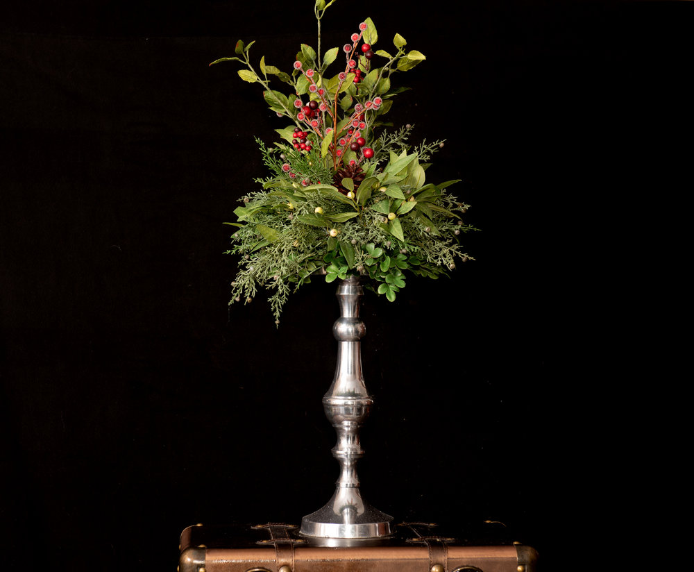 Home Decor & Accessories - It's more than a centerpiece. Your home is filled with warmth when you splash a little greenery and glitter throughout. We have something for every table, corner, stairway, dining room, or mantel.