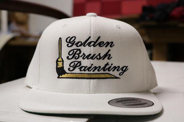 Golden Brush Painting