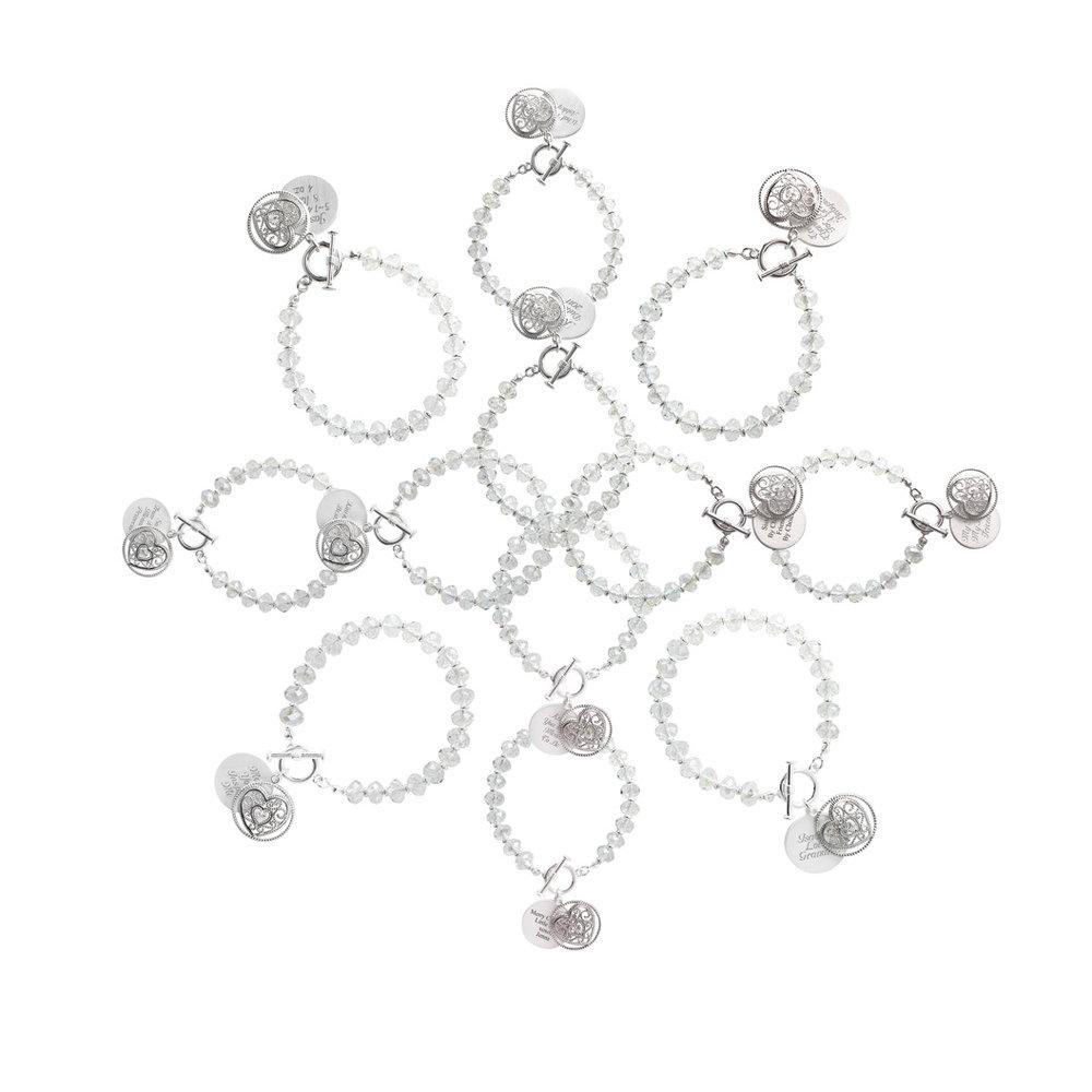 facet bead bracelet snowflake.jpg