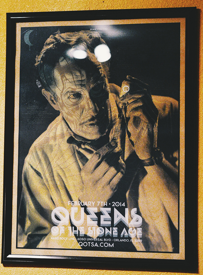 Queens of the Stone Age Hard Rock Orlando Poster