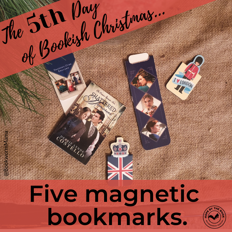 - On the fifth day of Christmas my true love gave to me, five magnetic bookmarks.