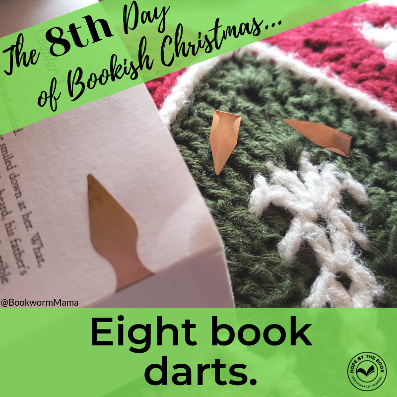 - On the eighth day of Christmas my true love gave to me, eight book darts.