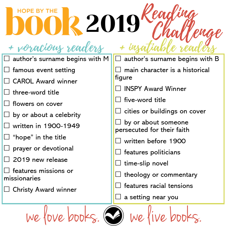 Hope By The Book 2019 Reading Challenge level up.png