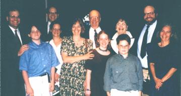 "Back Row (Left to Right)-James Green, Charles ""Chuck"" Green Jr., Charles Green Sr. (yup that's Charlie), Shirley Green (1925-1998), Clarke Green; Second Row (Left to Right)-Jeff Green (son of Chuck and Leslie), Leslie Green, Deborah Green, Summer Ventis (Debbie's Daughter), Robert Green (son of Chuck and Leslie), Teddi Barclay."
