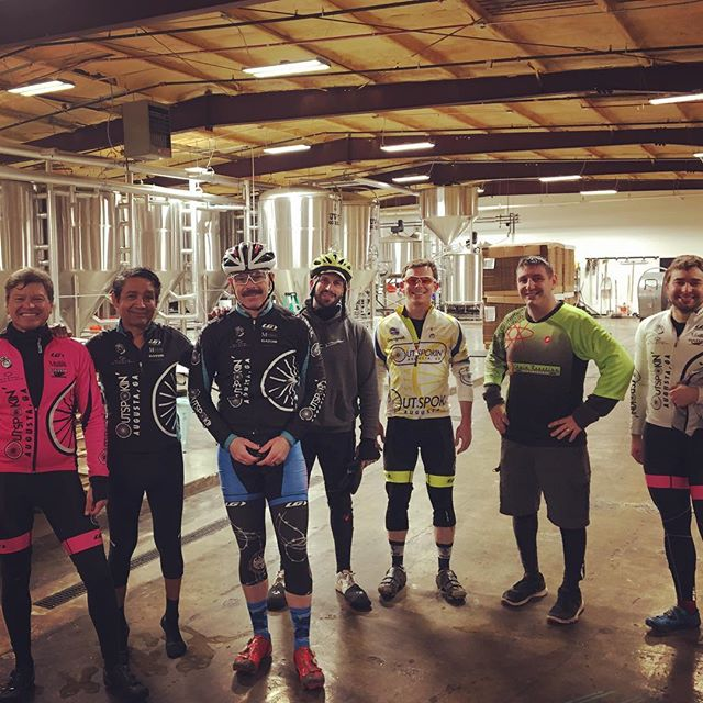 A recipe for success: brewmasters, ridemasters . There's a new ride brewing in Augusta - fear not if you missed us this time, we'll be back again after the Holidays 🦖👍🏼 . #pedaltothepint #ridewithfriends #beginnerswelcome #21anduptodrink #thingstodoinaugusta
