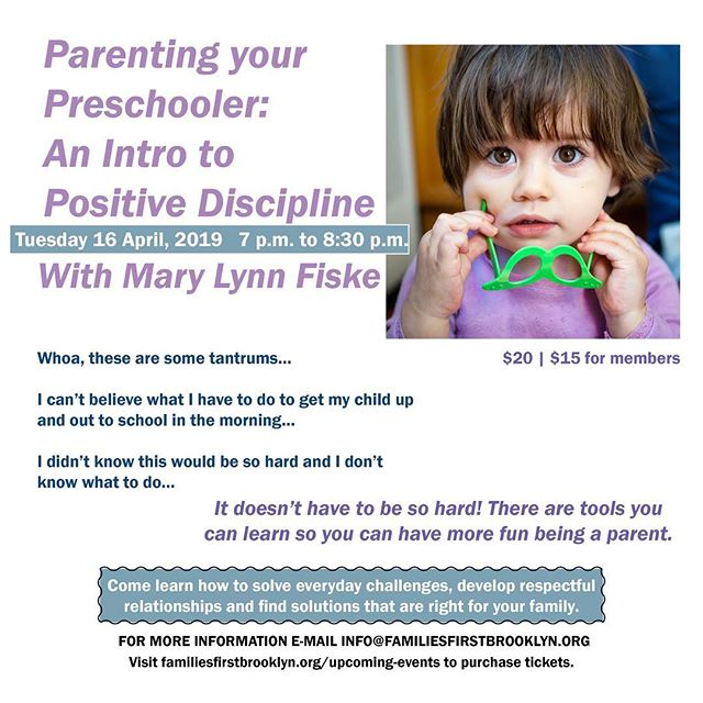 Link in bio for tickets!  #positive #discipline #parents #kids