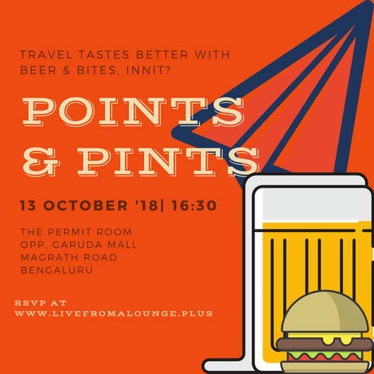 Point & Pints BLR - Date: October 13, 2018Time: 4:30 PM - 7:00 PMVenue: The Permit Room, 16/3, Ram Kunj, Opposite Garuda Mall, Magrath Road, Ashok Nagar, Bengaluru.