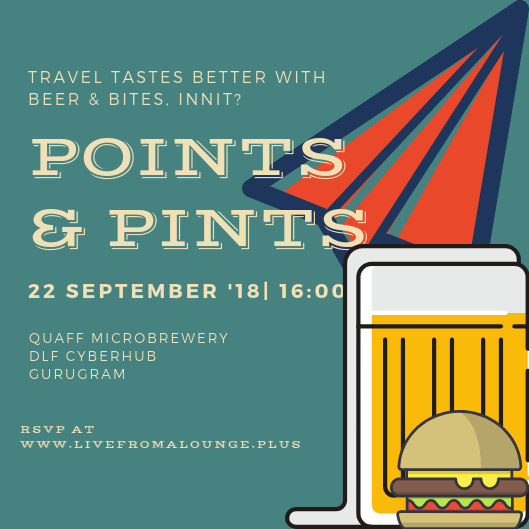 Point & Pints DEL/NCR - Date: September 22, 2018Time: 4:00 PM - 7:00 PMVenue: Quaff Microbrewery, Tower B, Building 10, Cyber Hub, DLF Cyber City, Gurugram