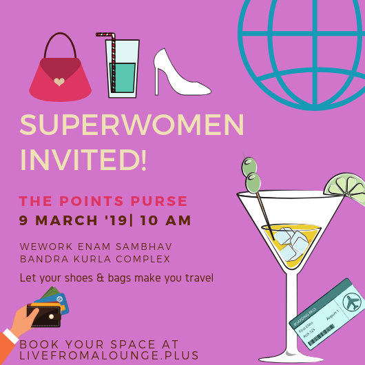 Point Purse Mumbai - Date: March 9, 2019Time: 10:00 AMVenue: WeWork Enam Sambhav, Bandra Kurla Complex, Mumbai