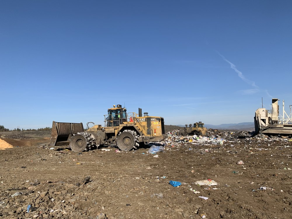 Compacting Waste at Drycreek Landfill