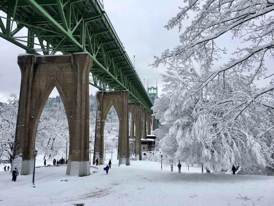 St Johns Bridge Snow.JPG