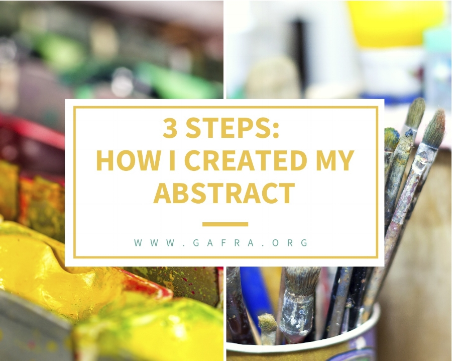 3 Easy steps to paint an abstract painting. Simple for any beginner.