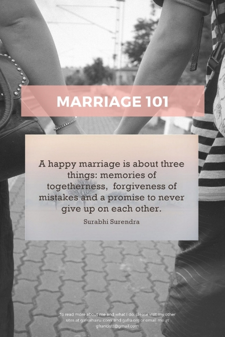 Marriage 101. Why are men so????? A happy marriage takes work and hear my ideas.