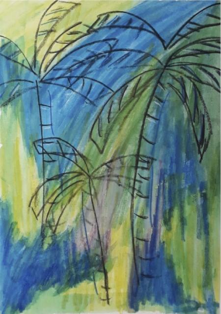 Watercolour Palms