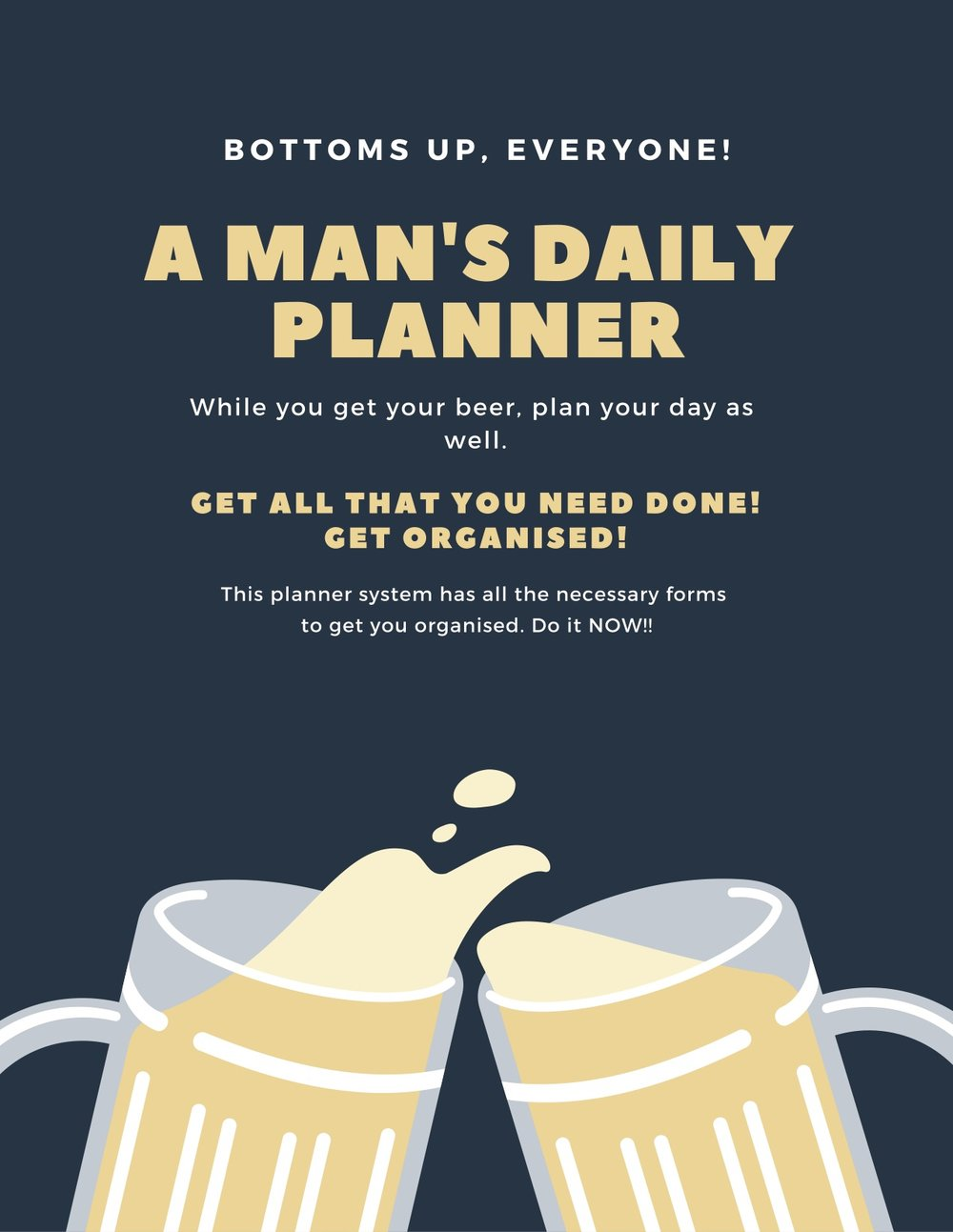 A Man's Daily Planner. GAFRA.ORG