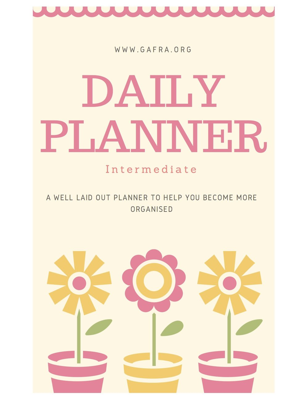 Get you pretty Daily Planner. For you Girly, Girls. It's just the cutest.  www.gafra.org