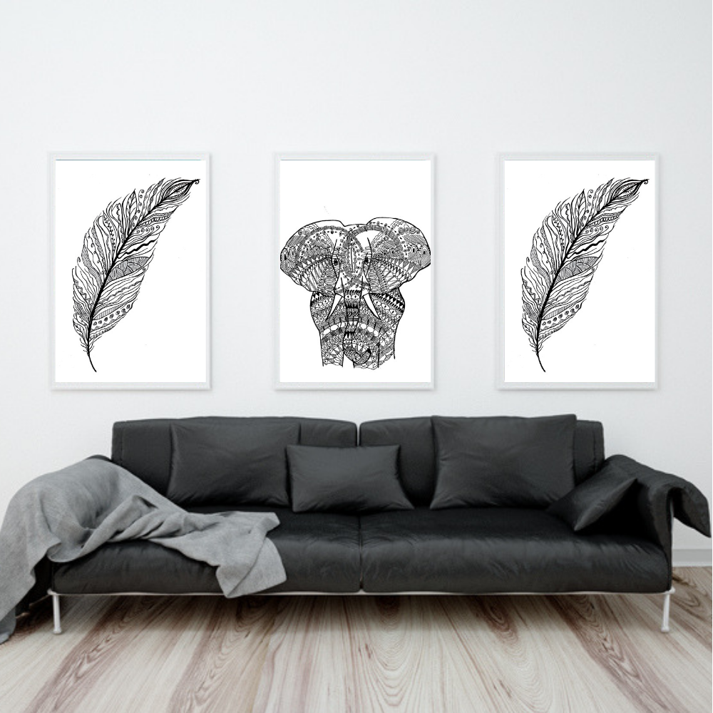 Have some   Mandalas   printed and have your Living Room look Amazing.