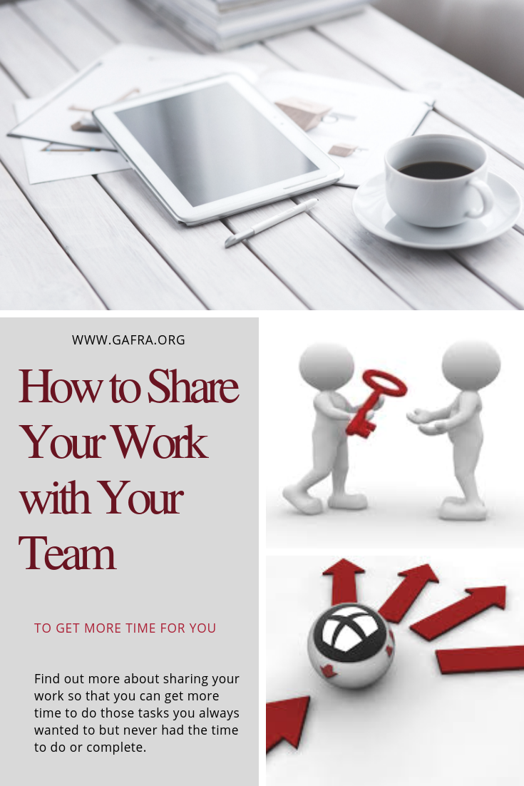 As a Business Owner. How do you share the work with your team?. www.gafra.org