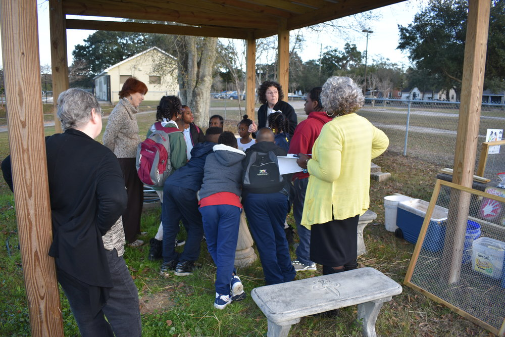 Composting lesson with Keep Mobile Beautiful