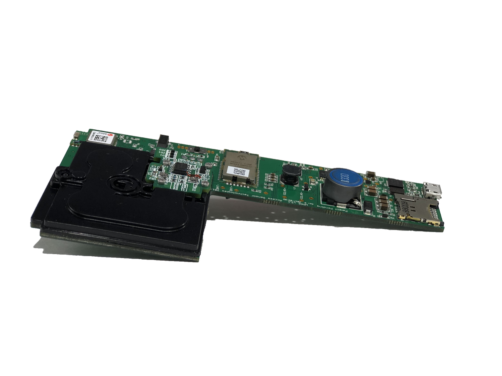 AST Ultrasonic Personal Air Sampler's internal board has the ability of tracking GPS, temperature, humidity, and pressure all on one board