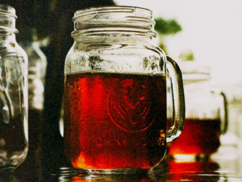 THE OPTIMIST - Ingredients4 oz. Jü brandy8 oz. mason jarMix It1. Serve neat.