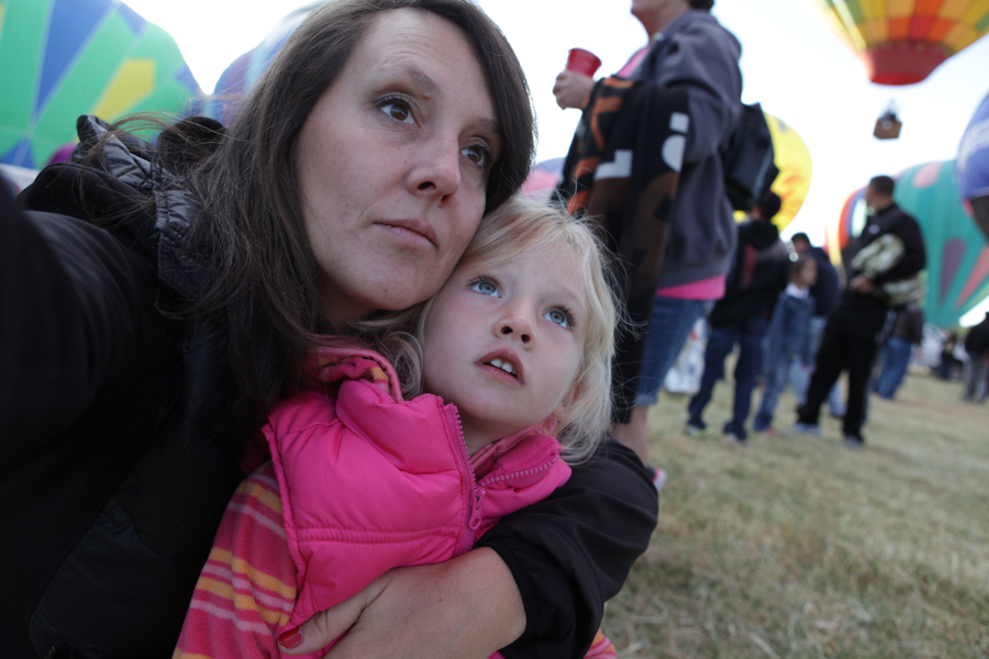 Me and my daughter Ruby at the Balloon Races