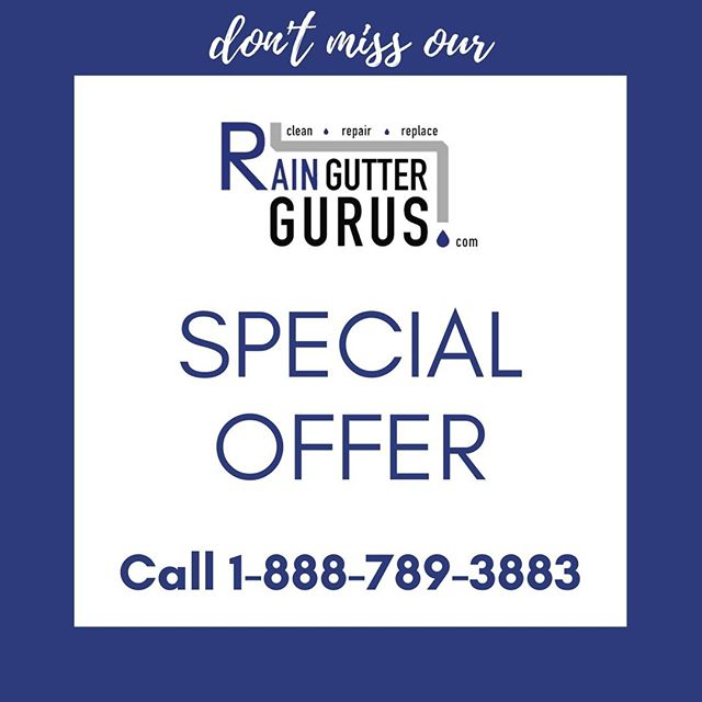 #RainGutterInstallation #SpecialOffer If you have gutters installed by Rain Gutter Gurus between February 25th and February 28th we will clean you gutters next year for 10% off. Call 1-888-789-3883 or visit http://ow.ly/L9RY50kzHiQ today to schedule an appointment .  Mention this ad to receive the discount for next year.