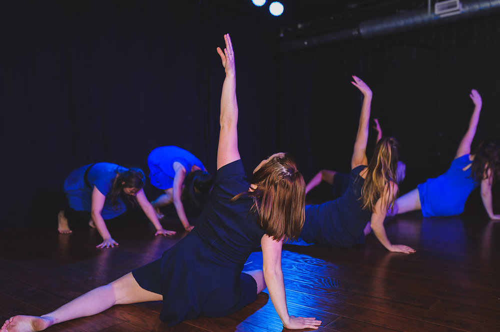 Dancers (front left to right): Erica Reynolds, Jillian Gasper, Sarah Hennings, (back left to right) Arye Shannon-Carmichael, Alisa Lindsay, and Laura Yeomans Photography: Forest Page Photography