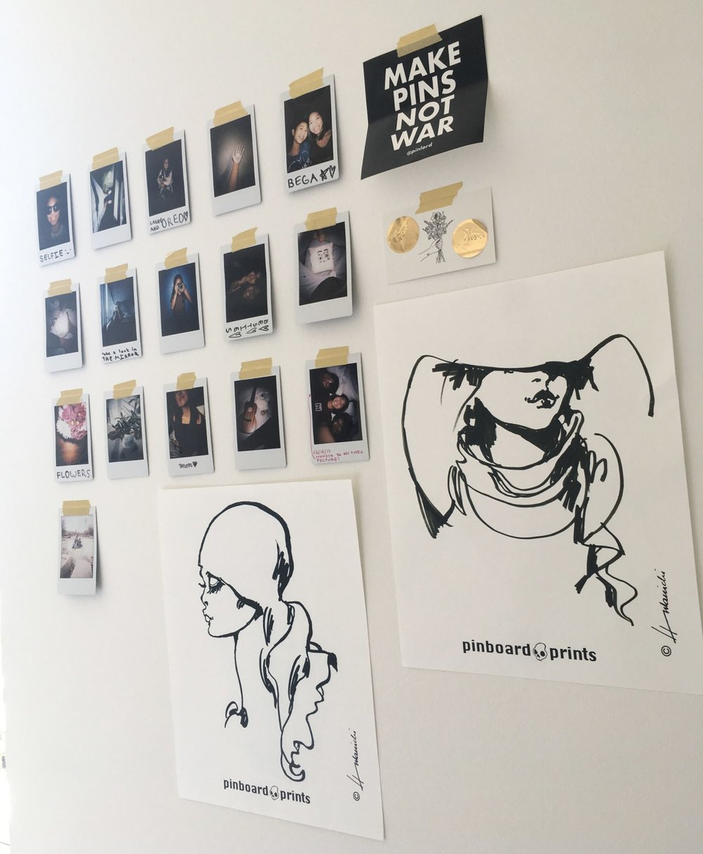 How one student used Barbara's prints to decorate her room