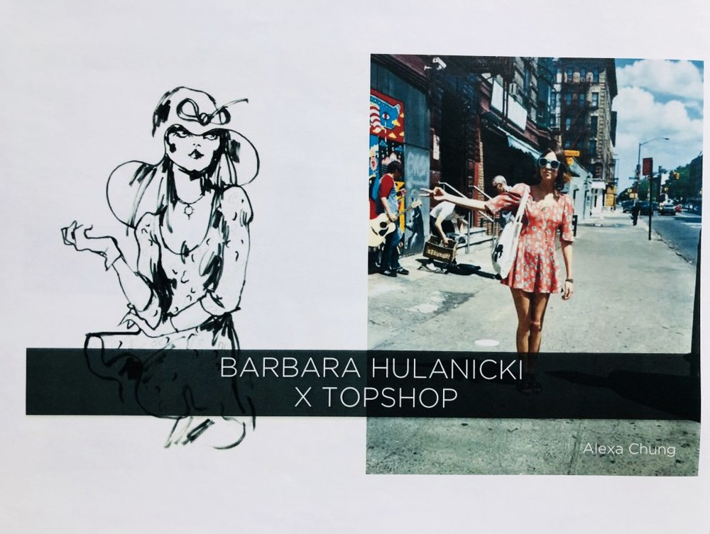 Barbara's collaboration with Top Shop and Alexa Chung