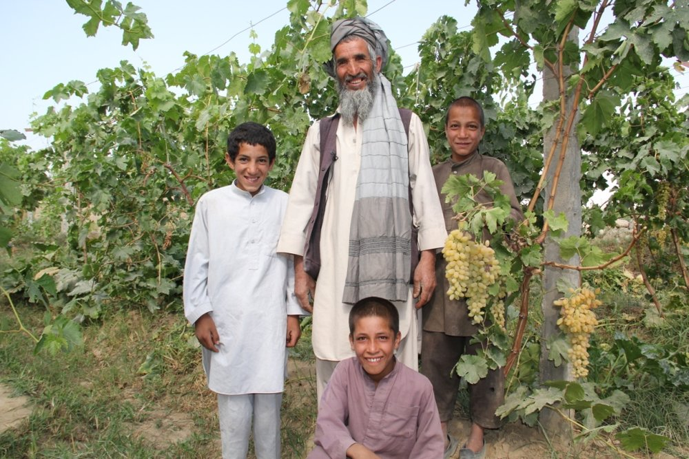 8. CHAMP benificiary grape farmer with his sons.JPG