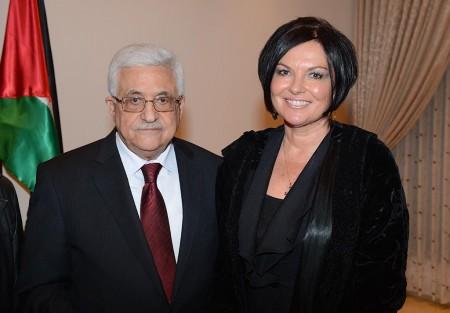 President Abbas and Heidi Kuhn