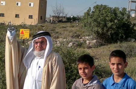 Shepherd in Fields of Bethlehem, Abu-Zuhir, landmine survivor with Palestinian children at-risk.